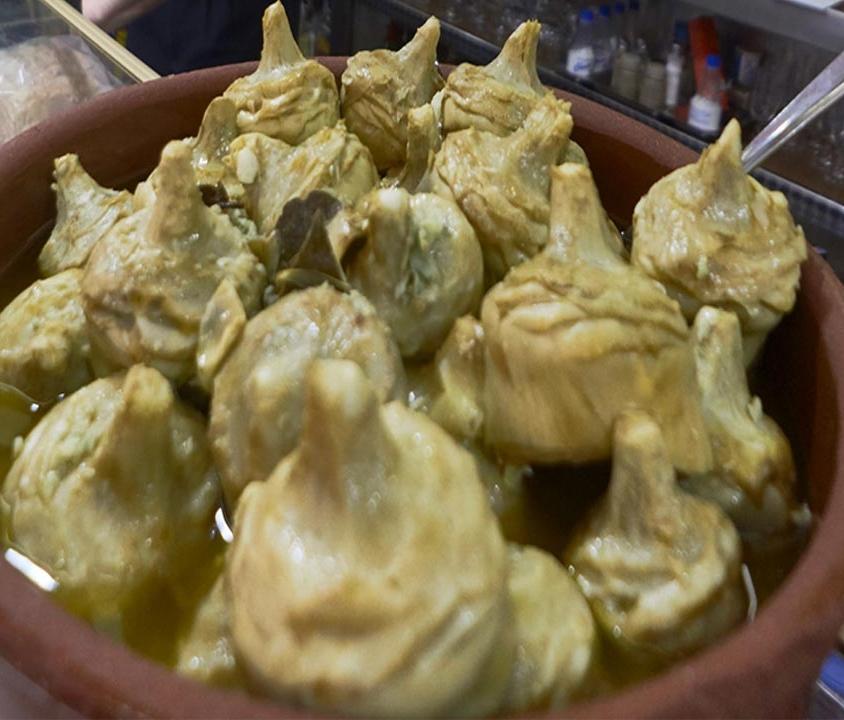 Alcachofas en escabeche